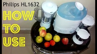 How To Use philips juicer mixer grinder hl1631