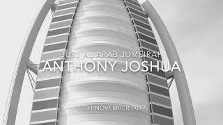Anthony Joshua boxing stunt on the Burj Al Arab helipad, Dubai 2017
