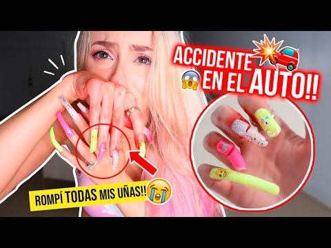 24 HORAS CON UÑAS EXTRA LARGAS!!! 💅🏻😭 ACCIDENTE DOLOROSO! TERMINA MAL! | Katie Angel