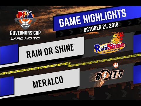 PBA Governors' Cup 2018 Highlights: Meralco vs Rain or Shine Oct 22, 2018