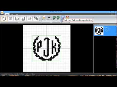 3 letter monogram with embroidery editor for the janome mc500e