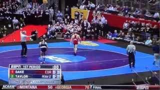 DAKE vs. TAYLOR (2013 NCAA Wrestling Championship 3/23/2013)