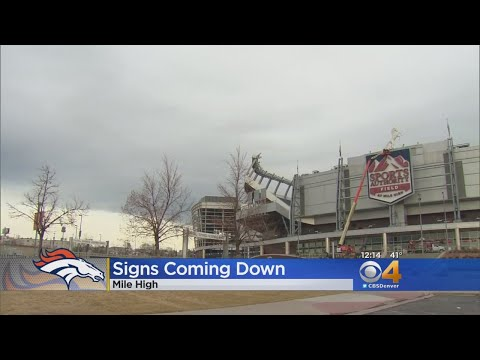 Sports Authority Signage Removed From Mile High Stadium