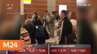 Смотреть видео Проблема задержки выдачи багажа в Шереметьеве по-прежнему не решена - Москва 24 онлайн