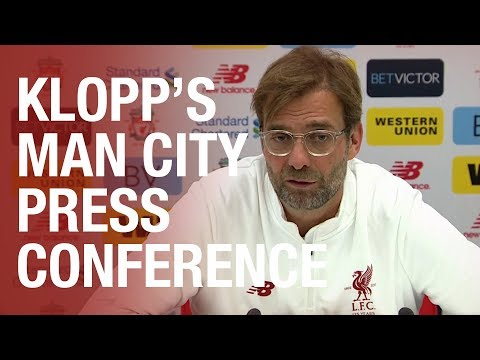 Jürgen Klopp's Manchester City press conference from Melwood