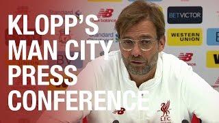 Jürgen Klopp's Manchester City press conference in full
