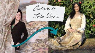 Tudor Dress Part 1: Maĸing a 16th-Century Tudor Kirtle using a Pattern from The Tudor Tailor