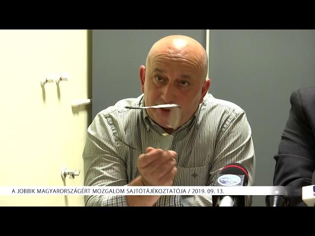 JOBBIK sajtótájékoztató 2019. 09. 13.
