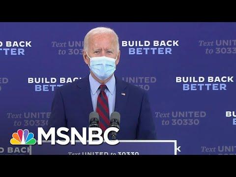 Joe Biden Urges Trump To 'Listen To The Scientists' And 'Support Masks' | MSNBC