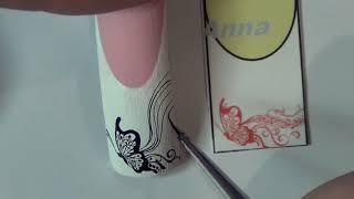 ЮВЕЛИРНАЯ БАБОЧКА НА НОГТЯХ/ДИЗАЙН НОГТЕЙ/РИСУЕМ бабочку на ногтях/Nail art painting