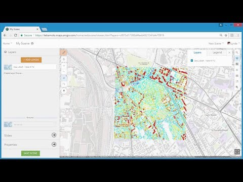 Using Point Cloud Scene Layers in ArcGIS Online