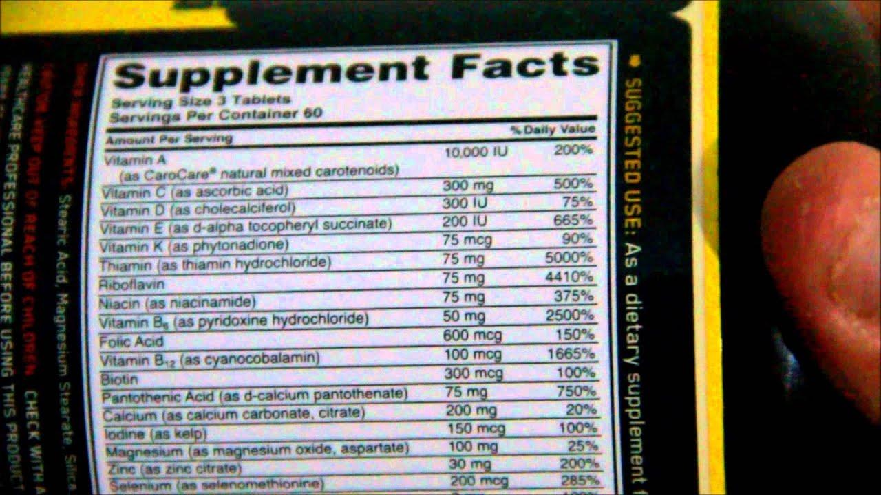 Optimen Optimun Nutrition (Review) - YouTube