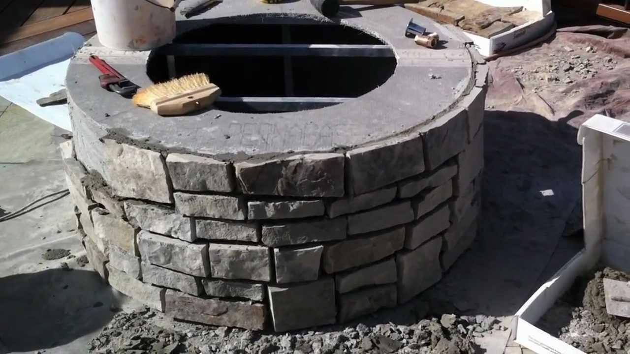 Building a Gas Fire Pit Fire Pit Installation Part 1 - YouTube
