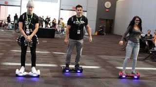 RACING HOVERBOARDS AT COMIC CON!!