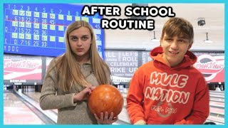 AFTER SCHOOL ROUTINE ~ BOWLING, SHOPPING, COOKING & MORE! Video