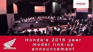 Honda's 2016 year model line-up announcement