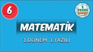 6. Sınıf Matematik | 1. Dönem 1. Yazılı Yazılıya Hazırlık