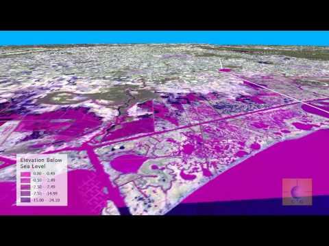 Anthropogenic Subsidence:  Elevations Below Sea Level Along Coastal Louisiana