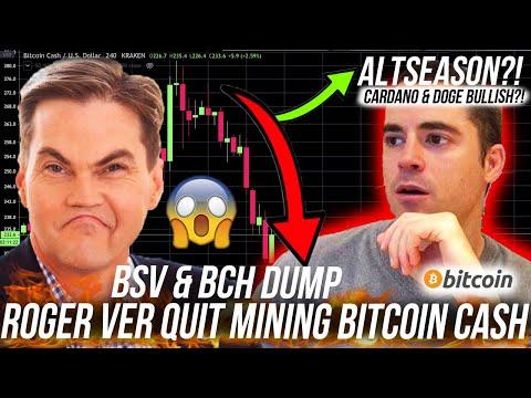 Bitcoin Cash HALVING FAIL! Bitcoin SV DUMP! CARDANO ALTCOIN BULLISH?! BCH BSV ADA & Bitcoin BTC TA!