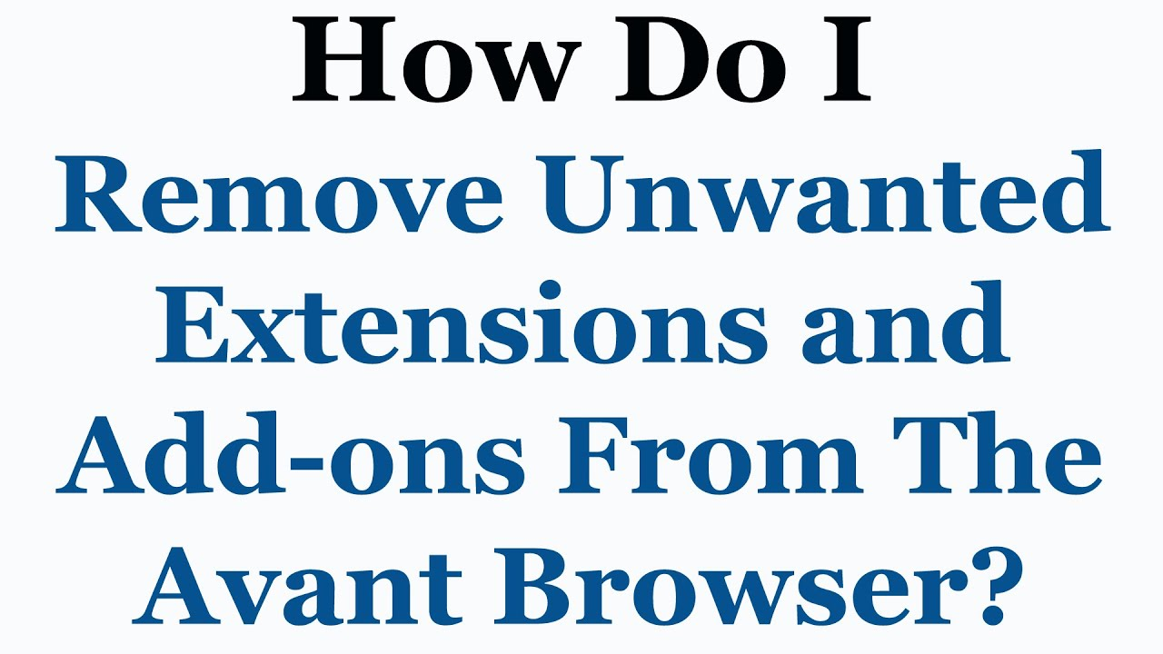 avant browser addons