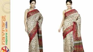 Buy Latest Trends block print silk sarees on Navrang Creations(Block Print Silk Sarees is the latest trend that gives a classy look and graceful. If you want to enjoy shopping and choose from the variety of options visit Navrang ..., 2016-03-19T05:39:47.000Z)