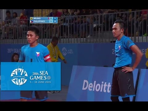 Sepaktakraw Mens Doubles BRU vs PHI (Day 9) | 28th SEA Games Singapore 2015