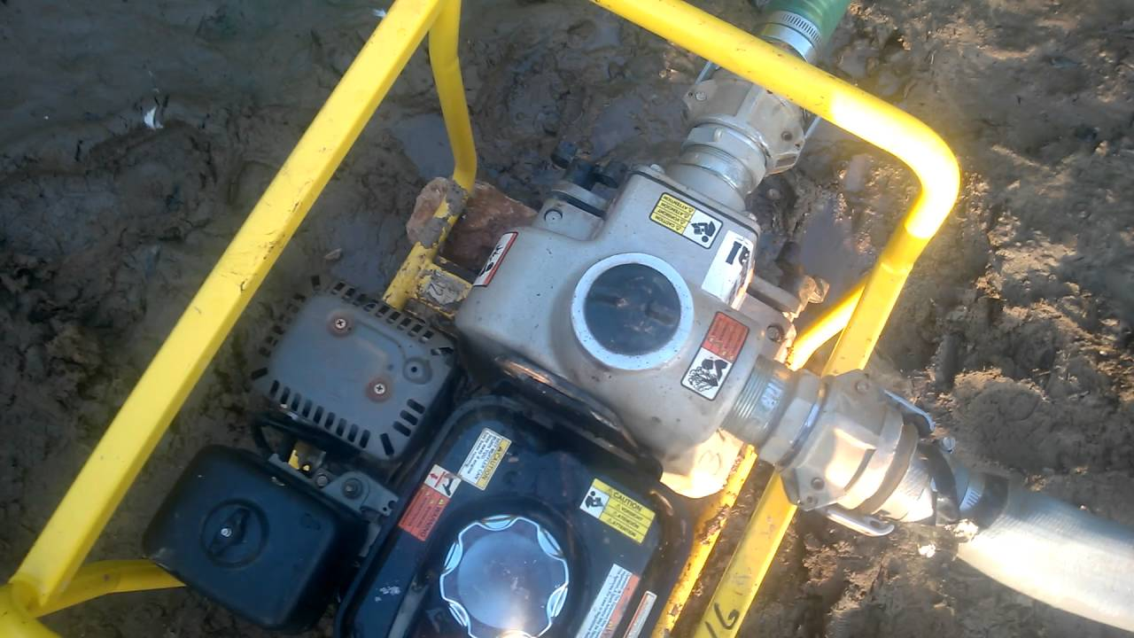 how to start a gas wacker neuson trash pump [ 1280 x 720 Pixel ]