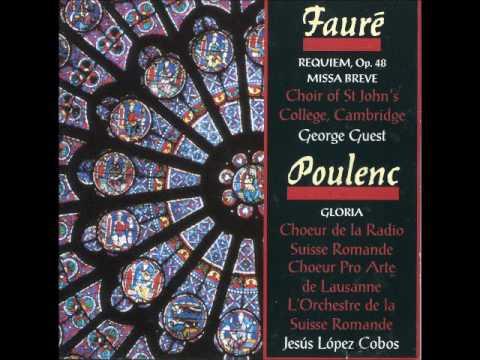 Fauré Requiem op  48; Poulenc Glória