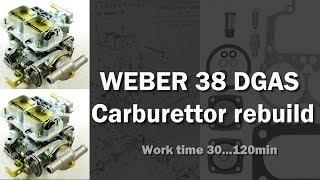 Weber 38 DGAS rebuild
