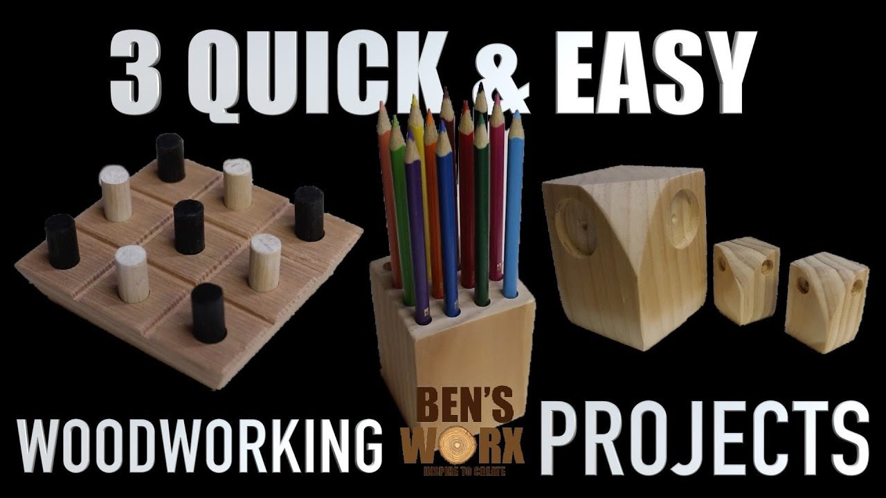 3 Easy Woodworking Projects Christmas Gifts Youtube