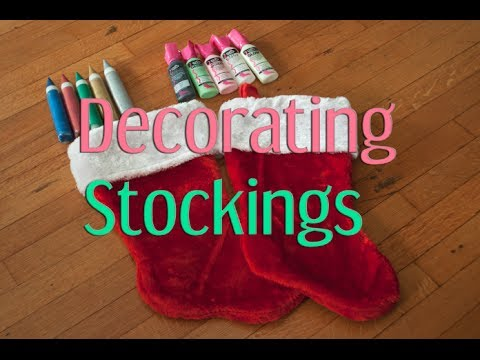 decorating stockings