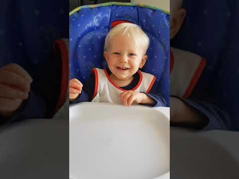 Ezra in his high chair