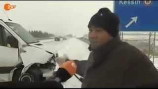 Blitz Eis auf der A20 bei Rostock - Gald und dann mach so Auto so machen ich mach nur so ABER Unfall