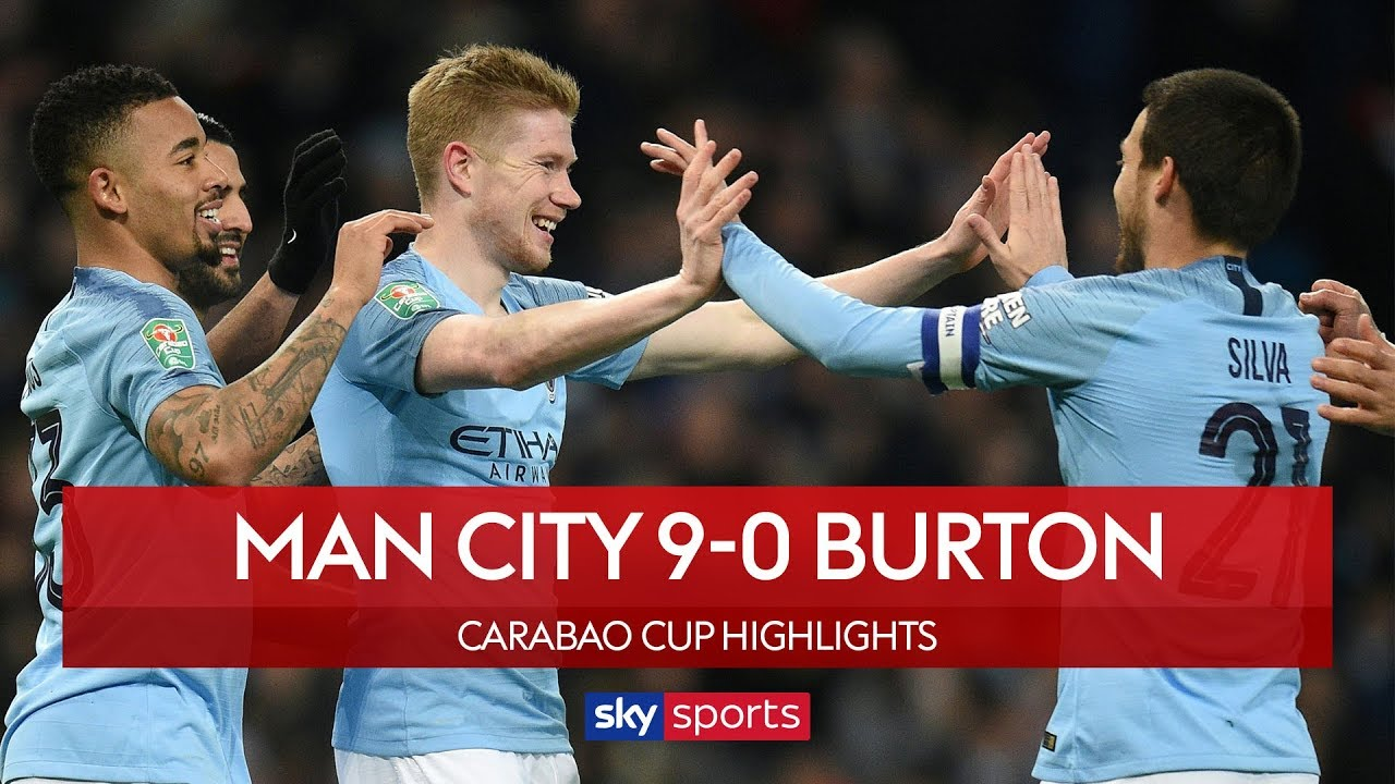 Man City 9-0 Burton Albion | Carabao Cup Semi-Final | Highlights image