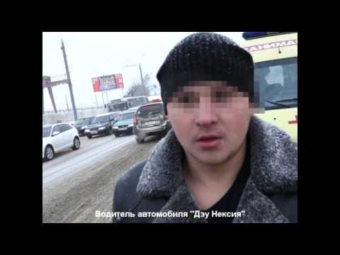 27.11.2015 ДТП на ул. Новоажимова, автобус и 2 авто (Ижевск)
