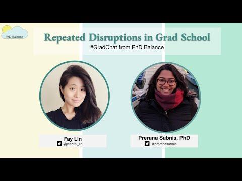 Repeated Disruptions in Grad School ~ Grad Chat w/ Dr Prerana Sabnis