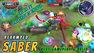 Revamped Saber Is One Shot Meta | Insane Damage Gameplay By X Moba : Mobile Legends