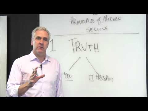 The 10 Principles of Modern Selling - Principle #1 Truth