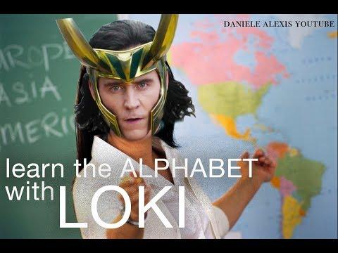 learn the alphabet with loki