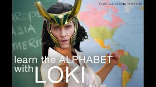 learn the alphabet with loki
