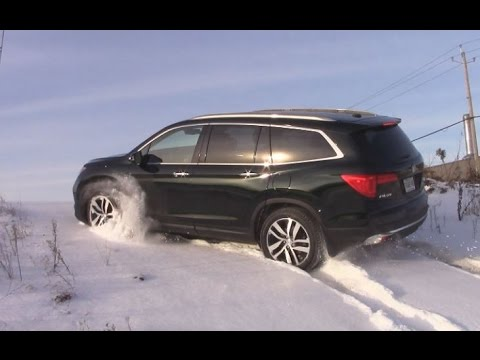 Pilot Honda 2018 >> AWD TEST: Honda Pilot 2016 in snow and ice - YouTube