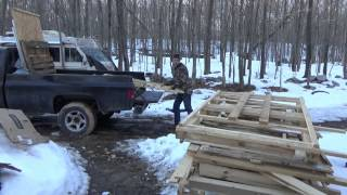 Unloading Free Construction Materials For My Tiny House On Wheels