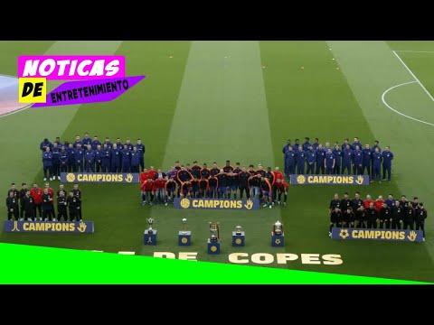 Homenaje a las cinco Copas del Rey del Barcelona