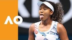 Naomi Osaka breaks the net! | Australian Open 2020