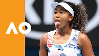 Osaka breaks net  | Australian Open 2020