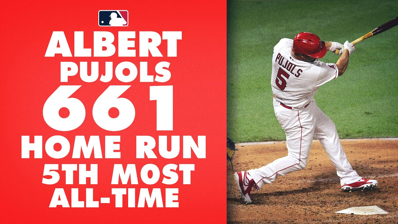 Albert Pujols hits 661 career home run to pass Willie Mays for 5th all-time!