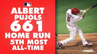 <b>Albert Pujols</b> hits 661 career home run to pass Willie Mays for 5th all ...