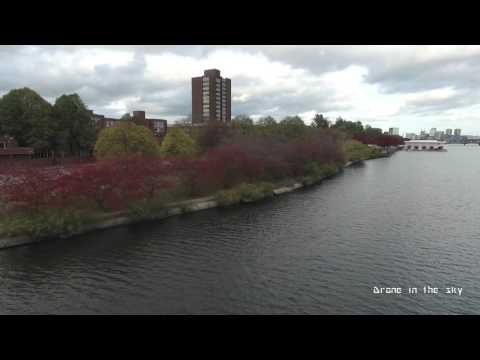 Charles river in Autumn - Boston MA