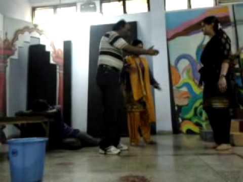 reharsal.....chainpur ki dastaan...play in BNA LUCKNOW