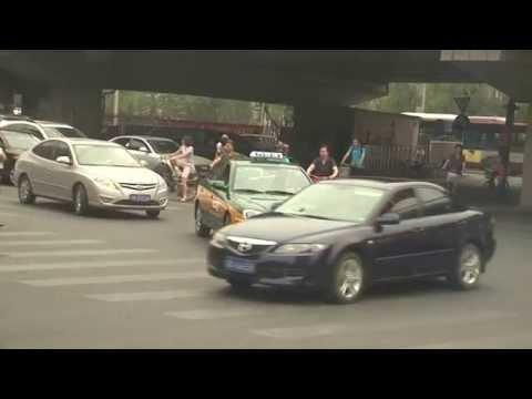 Traffic jam in Beijing, China